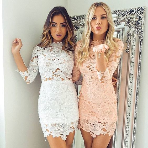 Lace Short Homecoming Dresses, Sweet 16 Dresses, Cute Short Party Dresses