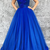 Fashion A-Line Off-The-Shoulder Royal Blue Long Prom/Evening Dress With