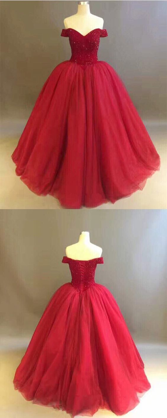 Burgundy Ball Gowns,Ball Gowns Quinceanera by Hiprom on Zibbet
