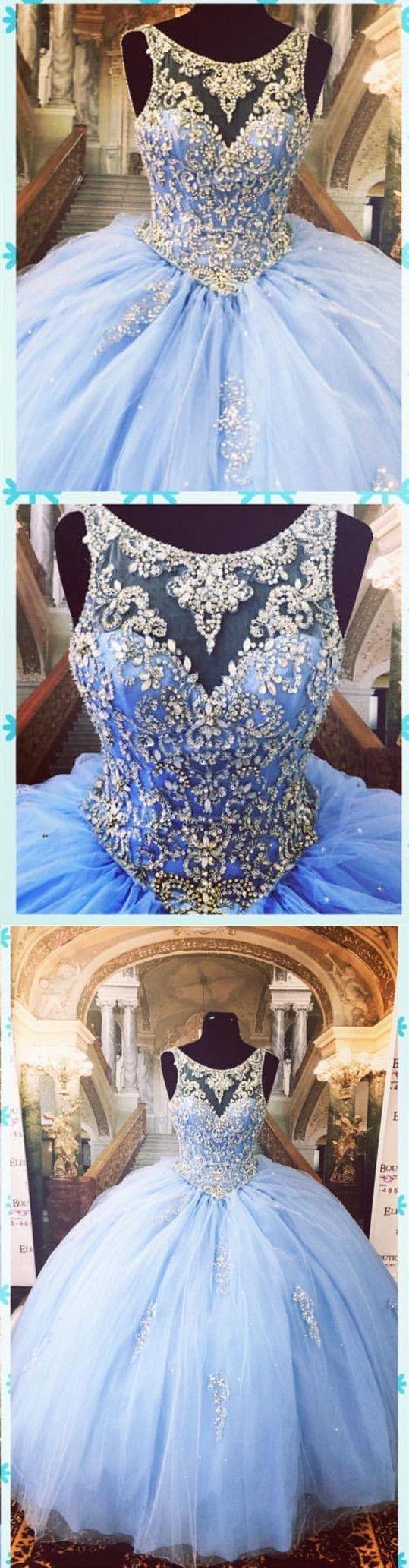 Light Blue Quinceanera Dresses,Ball Gowns Prom Dress,Sweet 16 Dress,Sweet 15