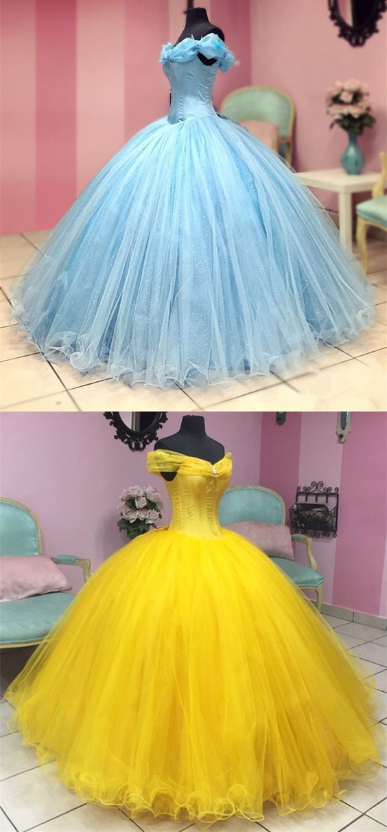 Fairytale Style Off The Shoulder Princess Ball Gowns Quinceanera Dresses