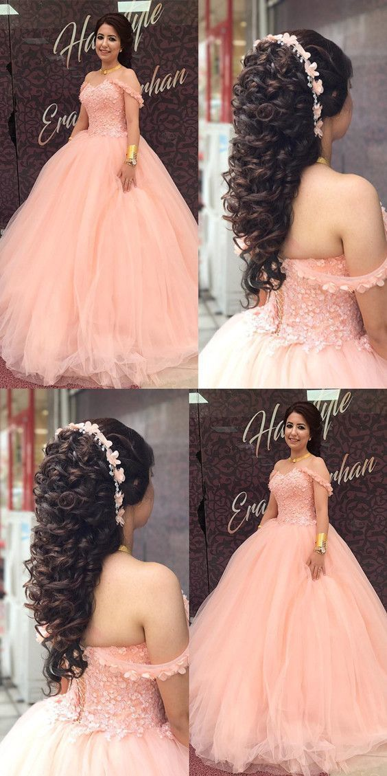 Lace Sweetheart Off The Shoulder Ball Gowns Quinceanera Dresses For Sweet 16