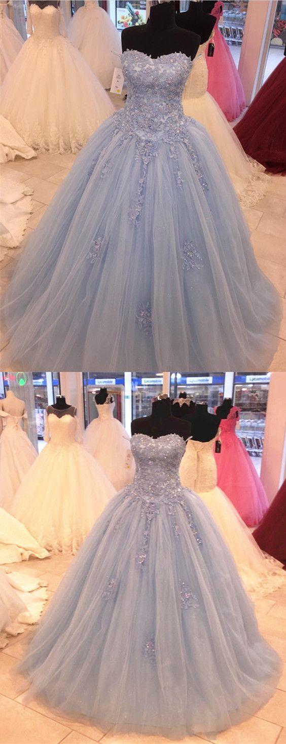 Light blue Quinceanera dress,sweet 16 dresses,ballgowns prom dress,baby blue