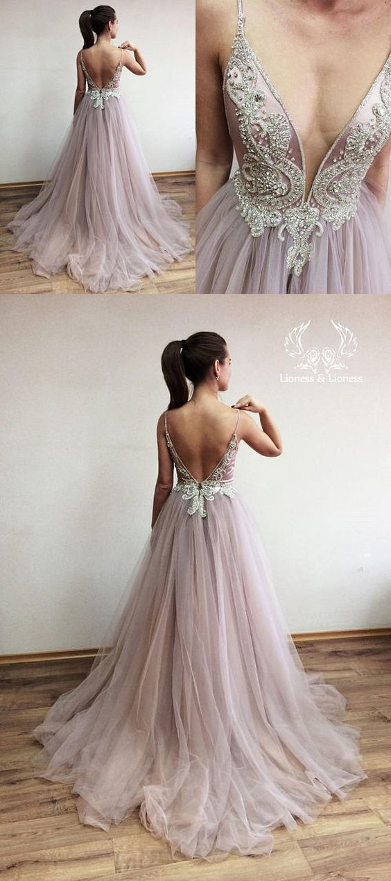 elegant prom dress,long prom dress, v neck long prom dress