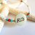 Grandmother Reveal Necklace, Cherokee Language, Seed Bead Jewelry