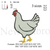 Chicken embroidery design, Chicken embroidery, embroidery pattern N 682... 3
