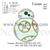 Rebot applique embroidery design, Droid dinosaur applique embroidery pattern No
