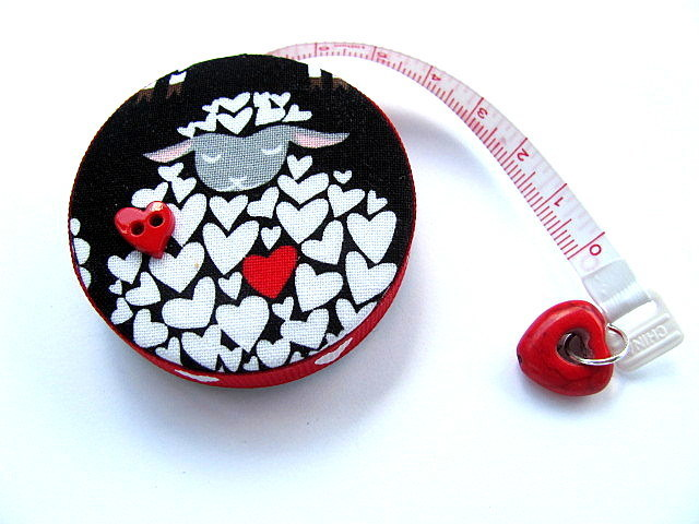 Tape Measure Heart Sheep Retractable Measuring Tape