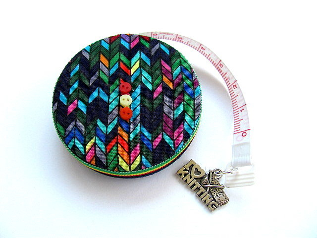 Tape Measure Knitting Stitches Retractable Pocket Measuring Tape