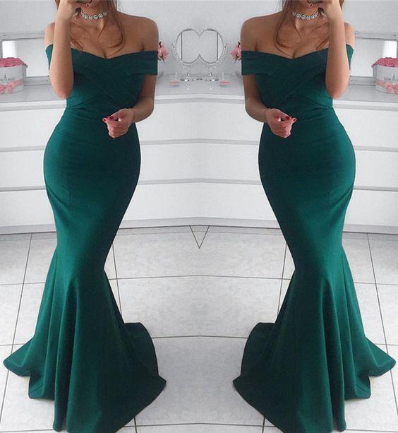 Hunter Green Evening Dresses