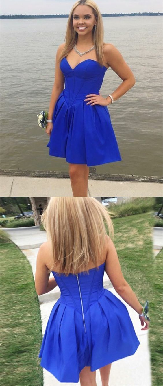 e7186a97b7 simple royal blue short homecoming dresses
