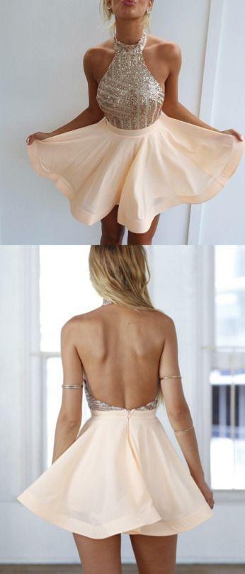 Sexy Dresses,Graduation Dresses,Short Homecoming Dresses,Gold Sequins Homecoming