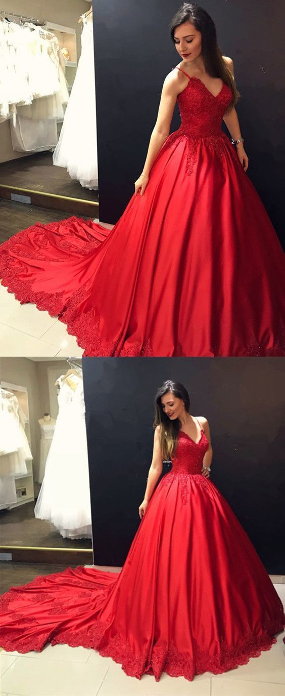 Sexy Long Satin Ball Gowns Prom Dresses Burgundy Prom Dress