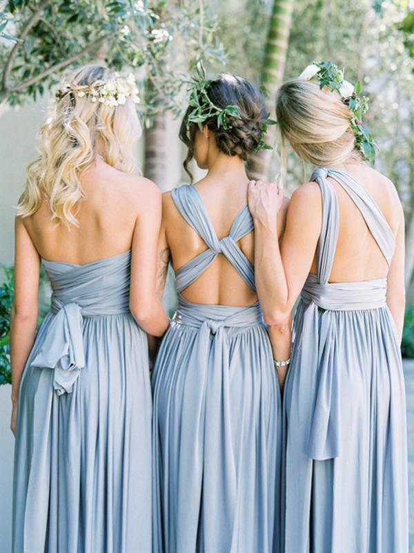 Long Bridesmaid Dress, Jersey Bridesmaid Dress, Dress for Wedding, Convertible