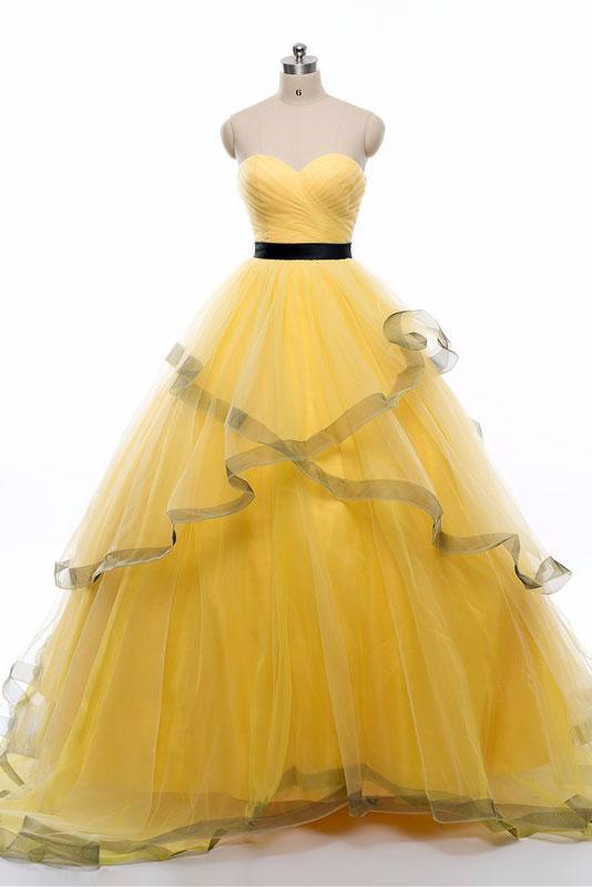Charming Prom Dress, Tulle Prom Dress, Long Prom Dresses, Evening Dress