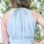 Best A Line Floor-Length Split Blue Chiffon Sleeveless Bridesmaid Dress, Chiffon