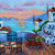 Giclee Canvas Print Sunset Santorini Greek Isles oil painting print Greece