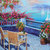 Original Signed Oil Painting Landscape Balcony over looking Ocean wall art