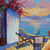 Sunset painting Wine Summer Original Oil Landscape Painting Signed Canvas Flower