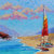 Sail Boat Painting Canvas Sailing Unties the Knots in my Mind Original Signed