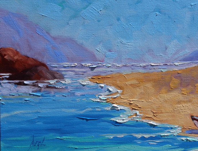 Sailing Unties the Knots in my Mind Original signed Oil Painting on canvas