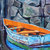 Original Oil Painting Signed Boat Art Boat Painting Canvas wall art Rebecca Beal
