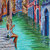 Enchanting Venice Original Artist Giclee Canvas Print of Venice Art  Colorful