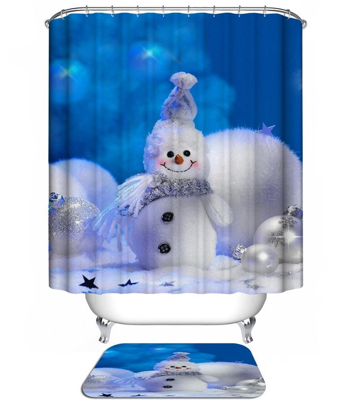 Christmas Snow Man Santa Clause 09 Waterproof by NathalyShop on Zibbet