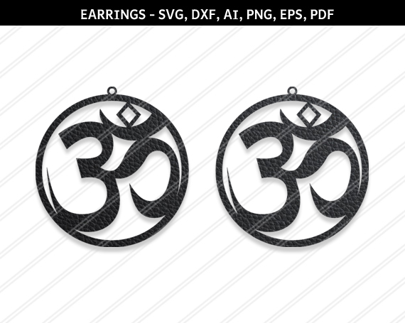 Ohm earrings,Om earrings,Ohm necklace,Om necklace,Charm necklace,gift for