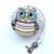 Measuring Tape Art Deco Owls Retractable Tape Measure