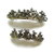 Silver Anchors  Button Barrette Set FREE US Shipping