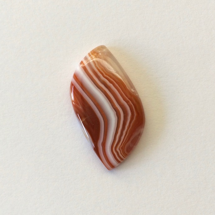 Botswana Agate Gemstone Cabochon 27x15mm FOR ONE