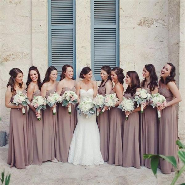 Chiffon Custom Cheap Sweetheart Simple Most Popular Bridesmaid Dress, Wedding