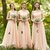 Impressive Mismatched Chiffon Straight Neck Half Sleeve Cheap Bridesmaid Dresses