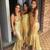 Shinning Gold Sequin Sweet Heart Mermaid Sexy Cheap Custom Long Bridesmaid