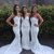 Beautiful White Sweetheart Mermaid Sexy Inexpensive Wedding Party Guest