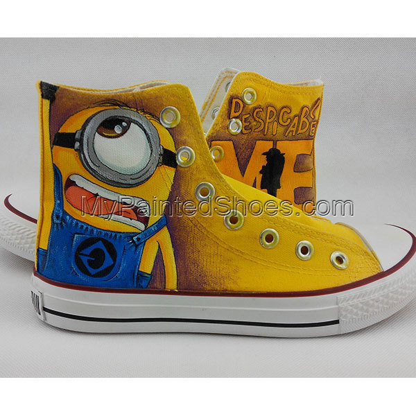 f9a1c7ee88 Anime Converse All Star Custom Design Hand Painted Shoes Minions Despicable  Me