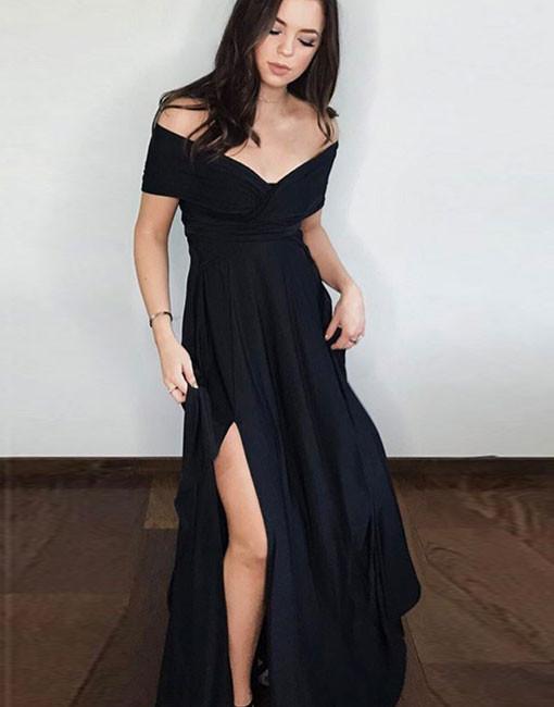 graduation dress,prom dress,Formal evening dress,black Long Prom Dress,2018 prom