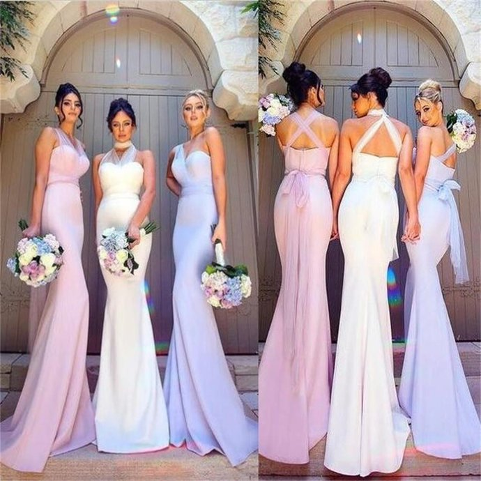 Charming Simple Most Popular Elegant Mermaid Bridesmaid Dresses, New Unique