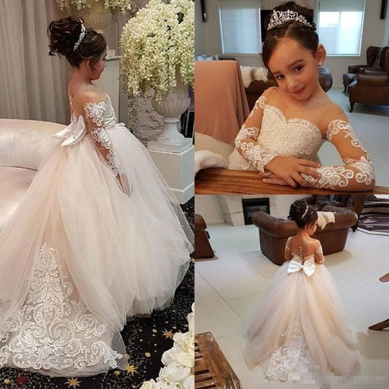 c3675240882 Adorable Lace Ball Gown Flower Girl Dresses For by PrettyLady on