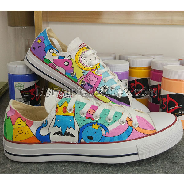 123b554ceb Men Women Anime Converse Shoes Design Adventure Time Hand Painted Shoes All  Star Chuck Taylor Canvas Sneakers