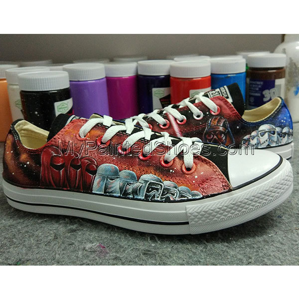 1c03995f6752b Star Wars Black Converse Chuck Taylor High Top Canvas Sneakers Custom  Design Hand Painted Canvas Shoes Free Shipping To Worldwide