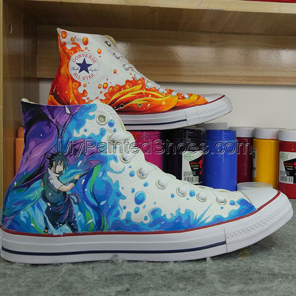 Original Design Naruto Converse Shoes Chuck Taylor High Top Sneakers Anime Shoes