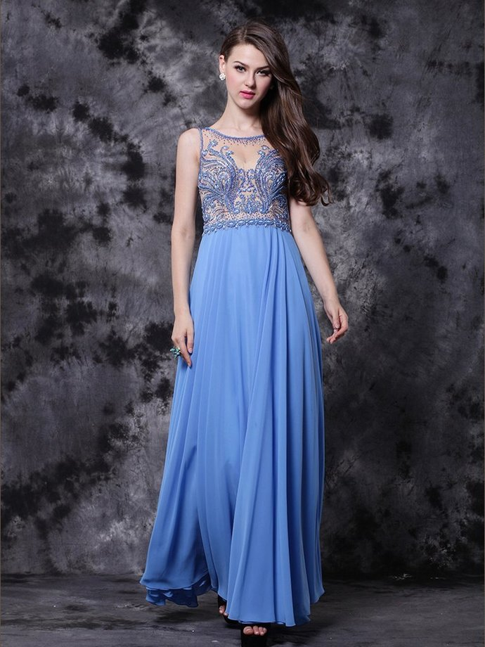 CHIC A-LINE PROM DRESSES ANKLE-LENGTH MODEST by prom dresses on Zibbet
