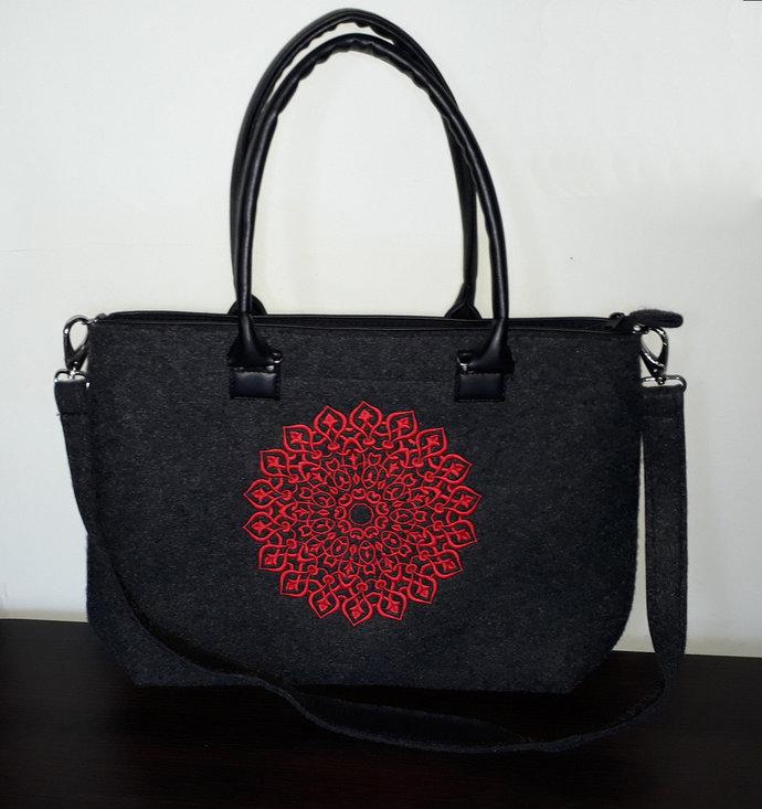 "Ladies elegant office felt bag, handbag / shoulderbag for 20"" laptop / ipad /"