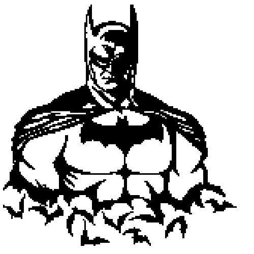 Batman Silhouette Crochet Pattern (Graph, SC, C2C, Bobble stitch)