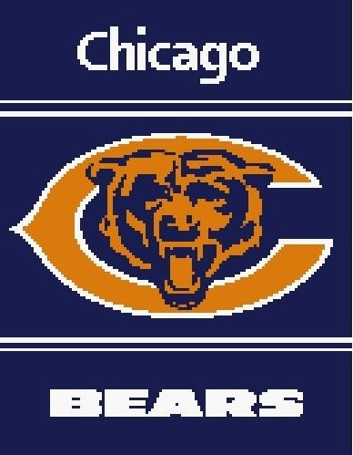 Chicago Bears Crochet Pattern  (Graph, SC, C2C, Bobble stitch)