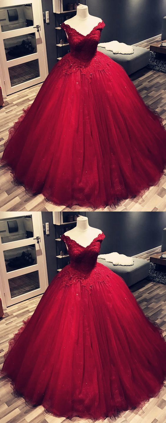 burgundy prom dress,maroon prom dress,ball by Miss Zhu Bridal on