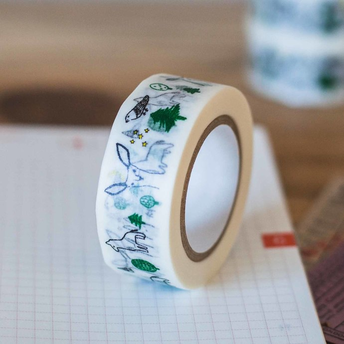 Classiky Forest washi tape - 1.8 cm wide masking tape 10m - perfect for