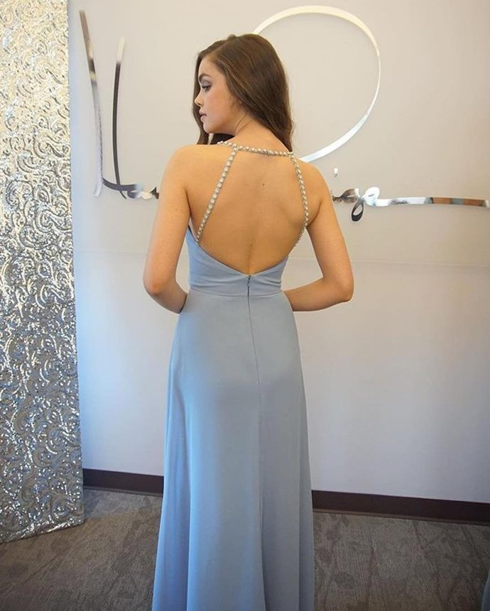 Simple Chiffon Prom Dresses, Prom Dress, Evening Dresses, Formal Dresses,